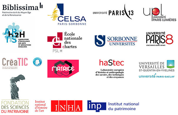 Logos des partenariats scientiques des Archives nationales