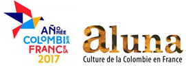 Logos Année France-Colombie et l'association Aluna – Culture de la Colombie en France