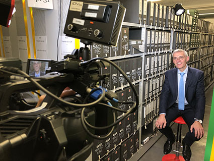 Tournage du documentaire aux Archives nationales